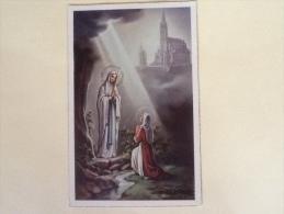 CARTOLINA VERGINE MARIA PROVENIENTE DA LOURDES DEL 1961 VIAGGIATA L - Vergine Maria E Madonne