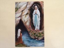CARTOLINA VERGINE MARIA PROVENIENTE DA LOURDES DEL 1964 VIAGGIATA L - Vergine Maria E Madonne