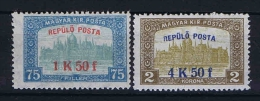 Hungary:  Mi.nr. 210 - 211, MNH/** - Hongarije