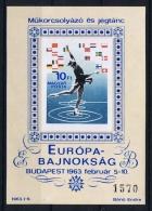 Hungary:  Mi.nr. 37 B , MNH/** 1963 - Blokken & Velletjes