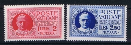 Vatican Citynr  Mi. 14+15, Sa. Nr E. 1 + 2 MNH/** 1929 - Unused Stamps