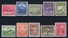 Ecuador , 1939 Mi.nr. 408-417 , MNH/** - Ecuador