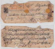 Hyderabad  1860's East India QV Stamps Franked On Registered Cover Sikanderabad To Hyderabad  #  83277  Inde Indien - Hyderabad