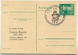 DDR P79-8a-80 C110 Postkarte ZUDRUCK Esperanto Francis Bacon Karl-Marx-Stadt Sost. 1980 - DDR