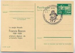 DDR P79-8a-80 C110 Postkarte ZUDRUCK Esperanto Francis Bacon Karl-Marx-Stadt Sost. 1980 - Esperanto