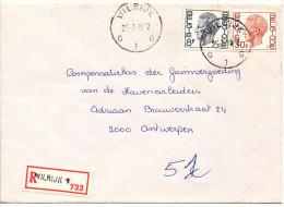 1979 Aangetekende Brief Van Wilrijk1 Naar Antwerpen PZ1647+1649 Zie Scan(s) - 1970-1980 Elström