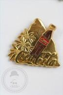 Gratec 1992 Merci Coca Cola Bottle Near Silver Colour Stone & Flowers - Coca Cola Pin Badge  - #PLS - Coca-Cola