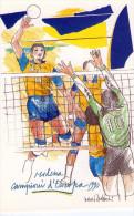 PALLAVOLO  MASCHILE  , Campionati D´ Europa  1990 , Modena, Nani  Tedeschi - Volleyball