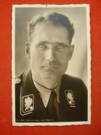 """Sw. Propagada-Fotokarte """"Portrait Rudolf Hess In SS-Uniform"""" Von Deutsches Reich, Beschrieben - Allemagne"""