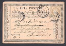 OISE - Carte Avec 15 C Cérès Oblitéré Cachet Type 16  NOAILLES DE L'OISE + H  De MOUCHY - Storia Postale