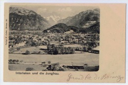 INTERLAKEN Und Die Jungfrau   Karte Vorstufe - BE Berne