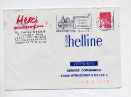 Lettre Flamme Mulhouse Championnat Philatelique - Postmark Collection (Covers)