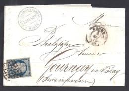 Lettre Avec TB  N° 4a  Oblitéré  Grille  Sur Lettre De Rouen - Postmark Collection (Covers)