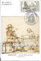 Carte Journée Du Timbre 1983 - Rembrandt - Homme Dictant Une Lettre - VALENCIENNES Le 26 Février 1983 - Marcophilie (Lettres)
