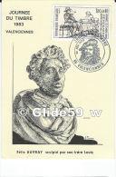 Carte Journée Du Timbre 1983 VALENCIENNES - Félix Auvray Sculpté Par Son Frère Louis - VALENCIENNES Le 26 Février 1983 - Marcophilie (Lettres)