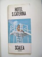 SCALEA  COSENZA HOTEL S. CATERINA       BROCHURE DEPLIANT TURISMO - Tourisme, Voyages