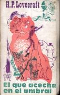 """""""EL QUE ACECHA EN EL UMBRAL"""" DE H.P LOVECRAFT- AÑO 1972- EDIT. AUCALLIN- PAG.180- GECKO. - Horror"""