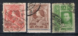 Lote 3 Sellos SIAM, Yvert Num 103 -160 Y 172 º - Siam
