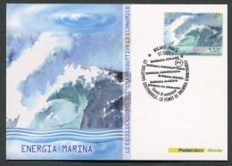 ITALIA - FDC CARTOLINA MAXIMUM CARD 2014 - FONTI ENERGIA RINNOVABILI ENERGIA MARINA - 478 - Elektrizität