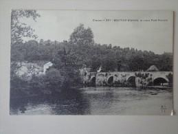 Cpa 23 MOUTIER D'AHUN VIEUX PONT ROMAIN - Moutier D'Ahun