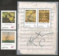 Lituania 1996 Nuovo** - Mi. 617/18+Bloc7 - Lituania