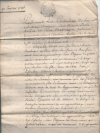 ANNEE 1785  Contrat D'apprentissage Par Devant Les Conseillers Du Roi, RARE , éducation,Métier De Serrurier, - Diploma & School Reports