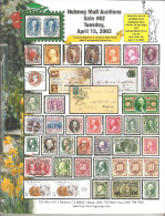 Nutmeg US Stamps Auction # 62,April 2003,Used In Good Condition - Catalogues For Auction Houses