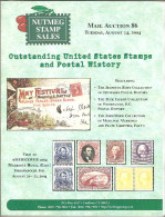 Nutmeg Stamps Auction Catalog # 86 ,August 2004 - Catalogues For Auction Houses