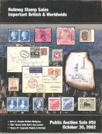 Nutmeg Stamps Auction # 56,October 2002,Used In Good Condition - Catalogues For Auction Houses