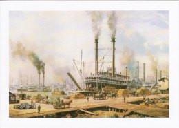 Marine Art Postcard Steamboat Pacific At New Orleans Roy Cross Steamer Ship - Passagiersschepen