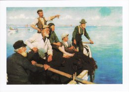 Marine Art Postcard The Seine Boat Stanhope Alexander Forbes France Oil Painting - Fishing Boats