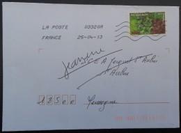 """FRANCE - Lettre Avec Timbre Autoadhésif Sans Valeur Indiquée """"Salade"""" De La Série """"Légumes"""" De 2012. - Légumes"""