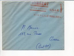 1955 Lille  / EMA :  ??? / Rideaux,tissus,Leynaert Lille Moulins - Marcophilie (Lettres)