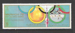 Ajman  JO Munich 1972  Relais  Perf  **  MNH - Summer 1972: Munich