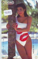 Télécarte Japon EROTIQUE (4679) EROTIC * TOYOBO *  Japan PHONECARD EROTIK * BIKINI GIRL * FEMME  SEXY LADY - Mode