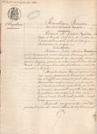VP1158 - Acte Obligation Par Mme BOURRIENNE De DOZULE à Melle COMBETTE Sur Divers Immeubles à DOZULE & SAINT - JOUIN - Manoscritti