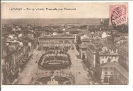 LIVORNO Piazza Vittorio Emanuele Con Panorama - Livorno
