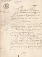 VP1159 - Acte Obligation Par Mme BOURRIENNE De DOZULE à Mr TARDIF Sur Divers Immeubles à DOZULE - Manoscritti
