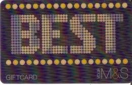 TARJETA DE REGALO MARKS & SPENCER (GIFT CARD-CADEAU) BEST DAD-3D - Non Classés