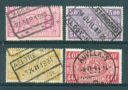"""BELGIE -  Spoorwegen (ref. 2821) -  Cachets  """"ACOZ"""",  """"AALST-NOORD"""", """"AELTRE Nr 2"""", """"AUVELAIS"""" - 1923-1941"""