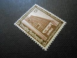 D.R.Mi 640y  - 15+10Pf** - Mod. Bauten - 1936 - Schwärzlichlilakarmin - Germany