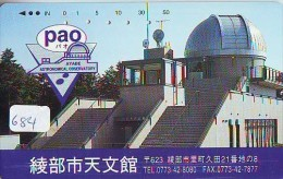 Télécarte Japon SATELLITE (684) ESPACE * TERRESTRE * MAPPEMONDE * TELEFONKARTE * Phonecard JAPAN * - Espace