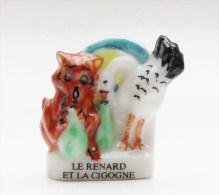 Fève Fable De La Fontaine Le Renard Et La Cigogne - V1 - Geluksbrengers
