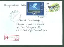1998 AANGETEKENDE REGISTERED RECOMMANDEE ENVELOPPE BERCHEM 3 NAAR WILRIJK + ZEGELS 2755-2697 MAGRITTE EKSTER - Belgium