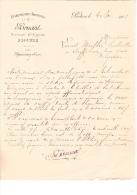 1901 Facture Lettre Plantes Horticulture Béchet Amphion Haute-Savoie  Florist - Agriculture