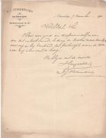 1902 Facture Lettre Plantes Horticulture Bloemist Stemerding S' Gravenhage - Netherlands