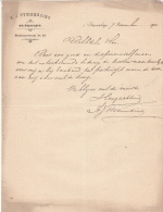 1902 Facture Lettre Plantes Horticulture Bloemist Stemerding S' Gravenhage - Holanda