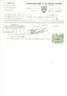 1927 Facture Kwitantie Verzekering Belgischen Boerenbond Ongevallen Leuven - Banque & Assurance
