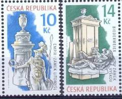 CZ 2009-611-12 HISTORICAL STOWS, CZECH REPUBLIK, 2v, MNH - Ungebraucht