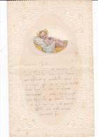 LETTERINA DI NATALECON FINESTRA 1932 APPLICAZIONE CROMOLITO NATIVITA' DI GESU' BAMBINO DUE SCANNER -2-0882-21100-101 - Noël